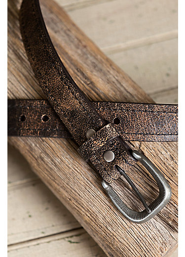 Overland Valencia Distressed Bison Leather Belt