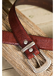 Overland Aztec Italian Cowhide Leather Belt