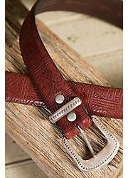 Overland Aztec Italian Cowhide Leather Belt
