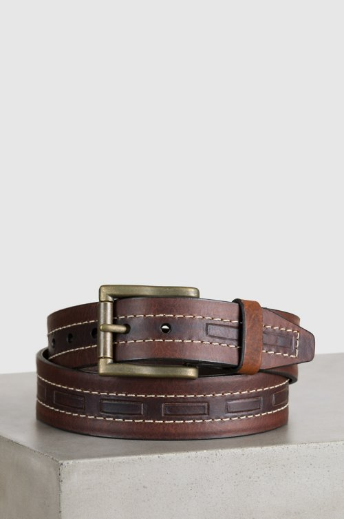 Tobasco Bison Leather Belt