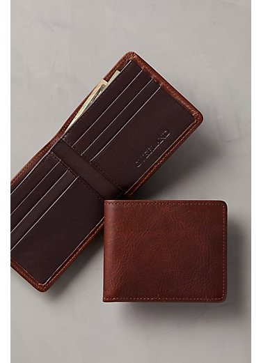 Mesa Bison Leather Billfold Wallet