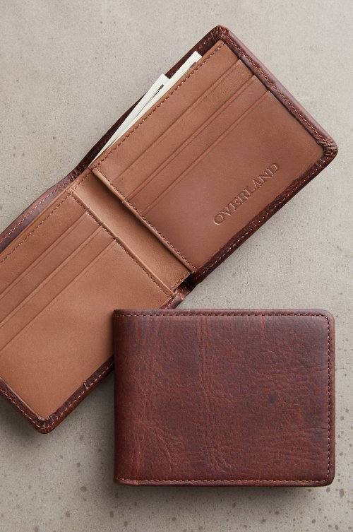Mesa Bison Leather Billfold Wallet