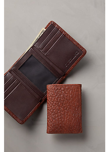 Phoenix Bison Leather Trifold Wallet
