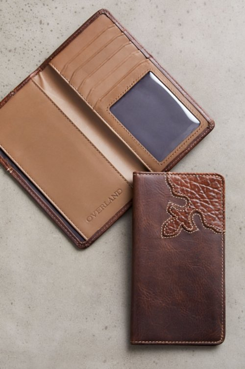 Yuma Bison Leather Checkbook Wallet
