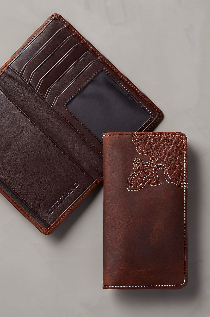 Yuma Bison Leather Checkbook Wallet