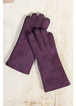Women's Raw Edge Shearling Sheepskin Gloves
