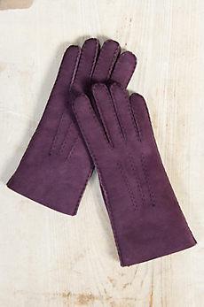 Women's Raw Edge Shearling Sheepskin Gloves