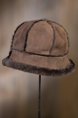 Spanish Merino Shearling Sheepskin Cloche Hat II