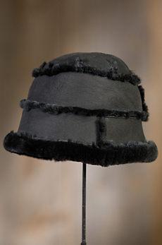 Spanish Merino Shearling Sheepskin Cloche Hat