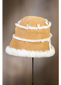 Spanish Merino Shearling Sheepskin Cloche Hat