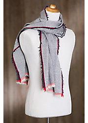 Overland Herringbone Wool Scarf