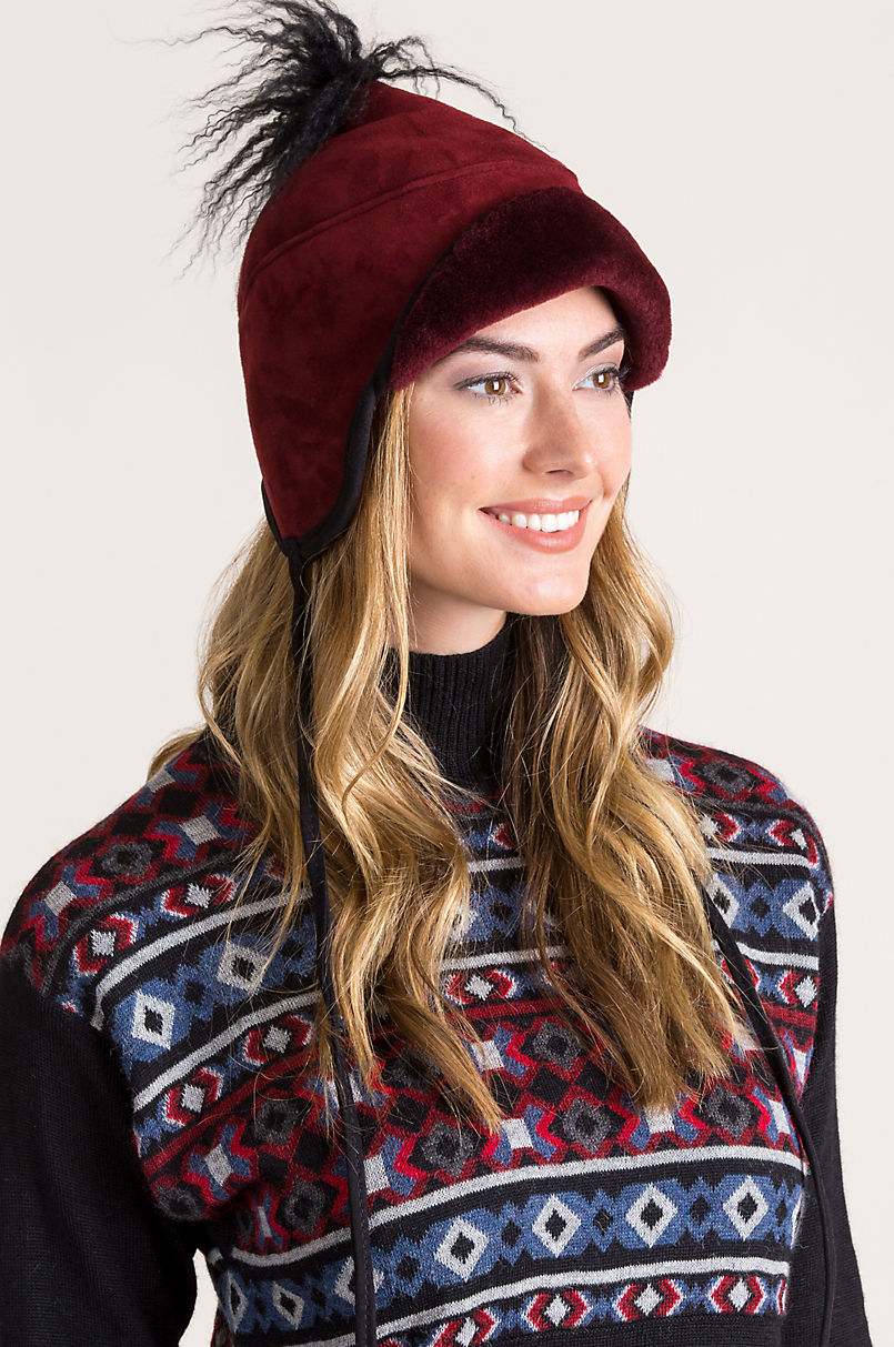c2364a200aa Tibetan Shearling Sheepskin Trapper Hat