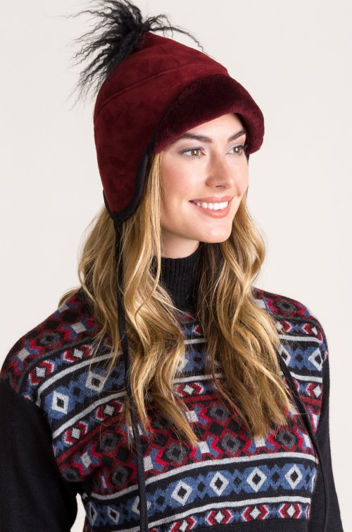 Tibetan Shearling Sheepskin Trapper Hat