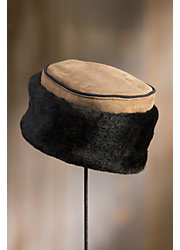 Shearling Sheepskin Pillbox Hat