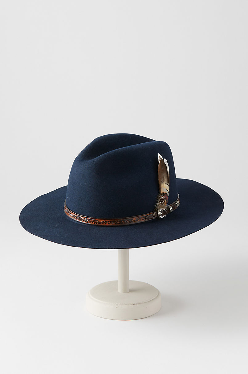 91873046971 Messenger Bolivian Wool Felt Outback Hat