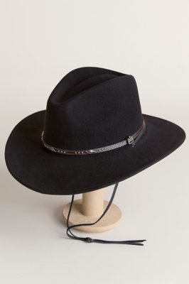 Rover Black Crushable Wool Felt Safari Hat