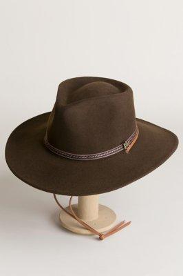 Wilderness Brown Crushable Wool Felt Safari Hat