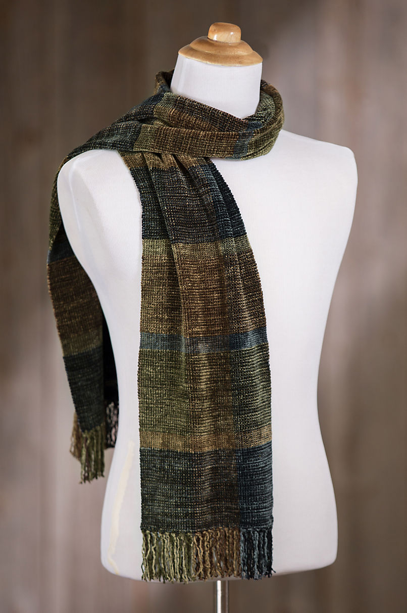 Woven Rayon Chenille Scarf