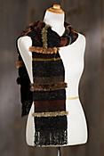 Chenille and Sheared Beaver Fur Scarf