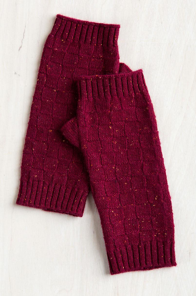 Speckled Knitted Cashmere Fingerless Gloves