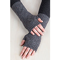 Victorian Gloves | Victorian Accessories Speckled Knitted Cashmere Fingerless Gloves $39.00 AT vintagedancer.com