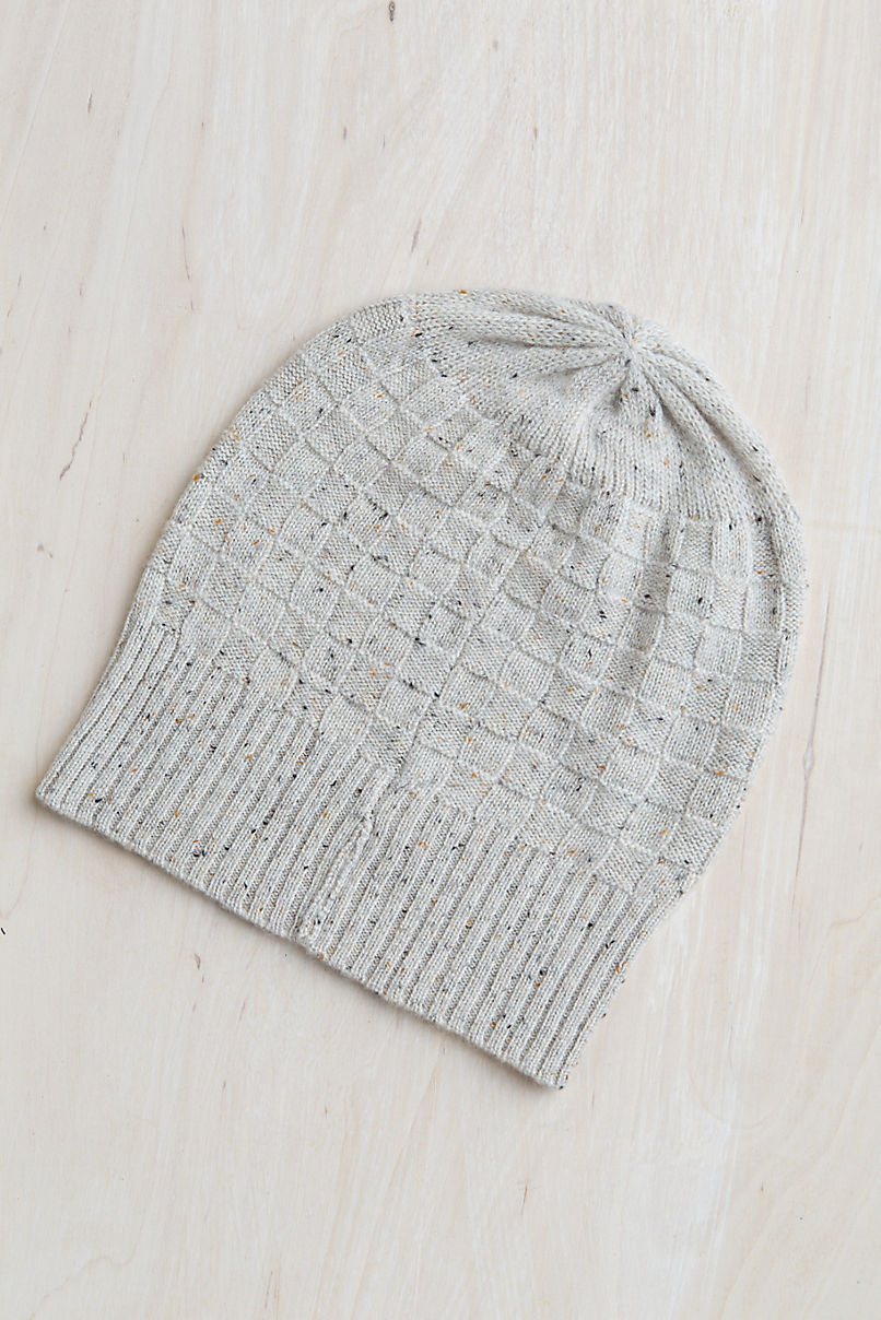 Speckled Slouch Cashmere Beanie Hat