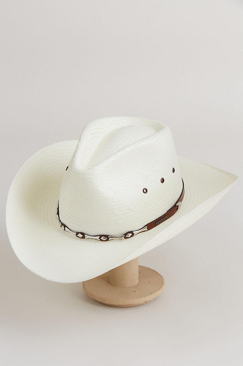 850ff6d8293f9 Stetson Santa Fe Shantung Straw Cowboy Hat