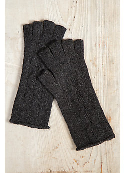 Women's Cashmere Cable Knit Fingerless Gloves