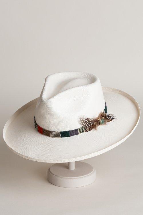 167eedaad92a3 Carlos Santana Clapton Shantung Straw Fedora Hat