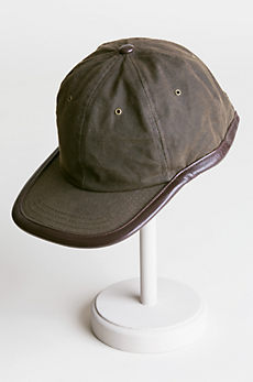 Oil Cloth & Leather Waterproof Baseball Cap