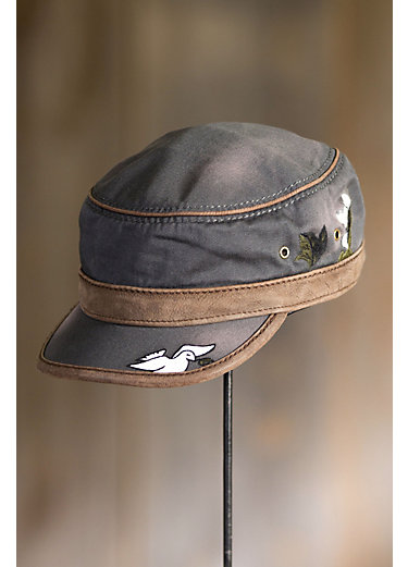 Spirit Embroidered Cotton Cadet Cap