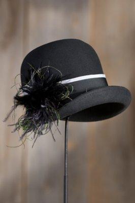 Women's Peacock Wool Felt Cloche Hat