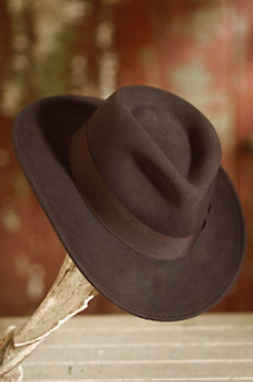 Indiana Jones Crushable Wool Fedora Hat