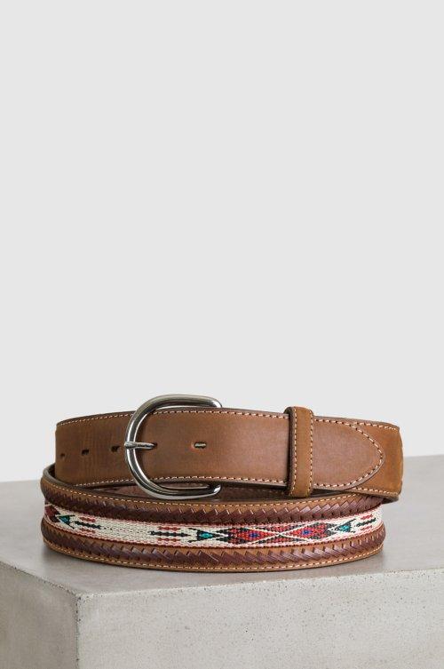 Horsehair Ribbon Braid Leather Belt 5bad8e337408