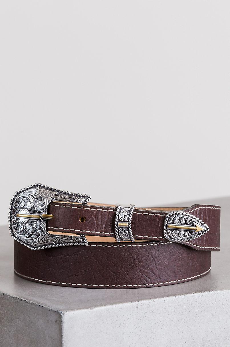 Broken Arrow American Bison Leather Belt