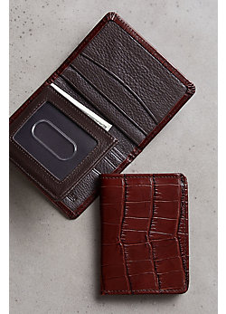 Rockefeller Flip-Fold Leather Wallet