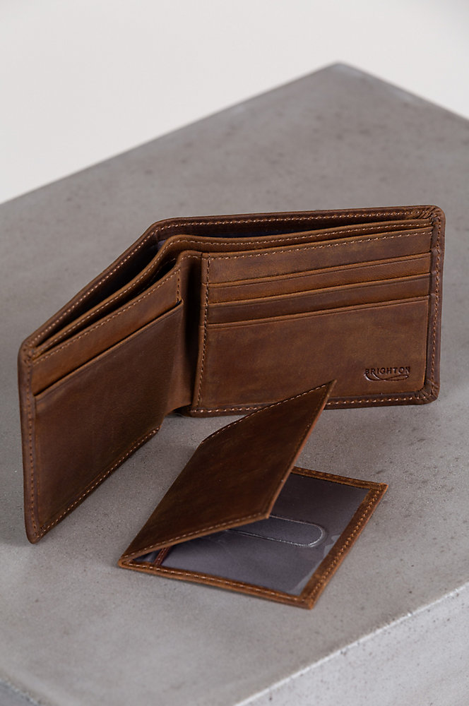 Vanderbilt Distressed Leather Billfold Wallet