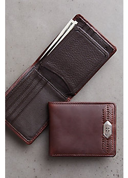 Cape Verde Ornament Leather Wallet