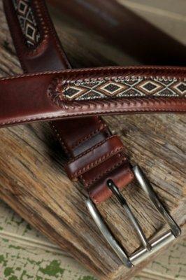 Mesquite Diamond Leather Belt