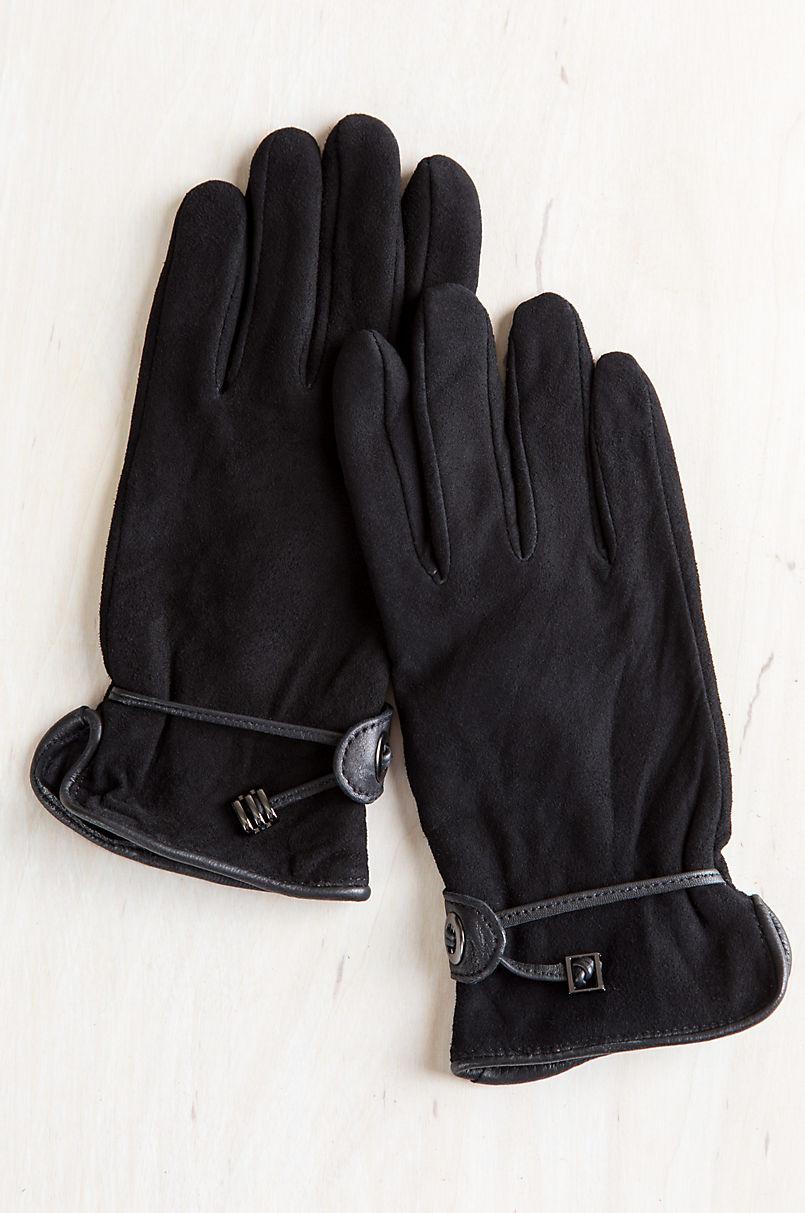 Women's Ponderosa Fleece-Lined Deerskin Leather Driving Gloves