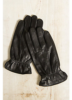 Men's Amara Palm Lambskin Leather Texting Gloves