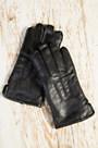 Men's Fleece-Lined Lambskin Leather Gloves