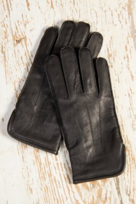 Men's Classic Wool-Lined Goatskin Leather Gloves