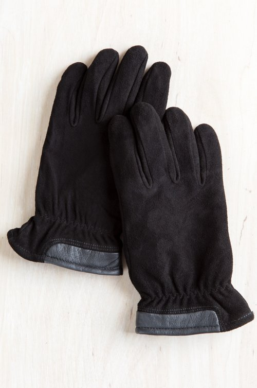 Men's Nash Fleece-Lined Deerskin Suede Leather Gloves