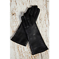 Edwardian Style Clothing Womens Classic Long Lambskin Leather Gloves with Cashmere Lining BLACK Size XLARGE  8 $69.00 AT vintagedancer.com