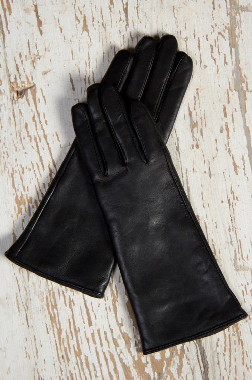 Women's Sequoia Classic Long Lambskin Leather Gloves with Cashmere Lining