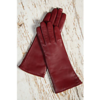 Vintage Style Gloves Womens Classic Long Lambskin Leather Gloves with Cashmere Lining CLASSIC RED Size XLARGE  8 $69.00 AT vintagedancer.com