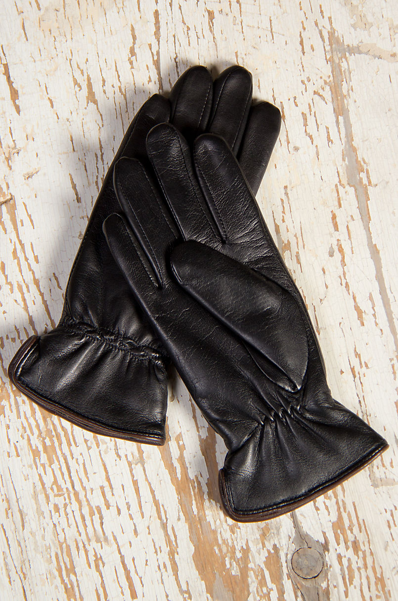 Women's Casual Cable Stitch Lambskin Leather Gloves