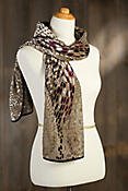 Winding River Silk Velvet Scarf