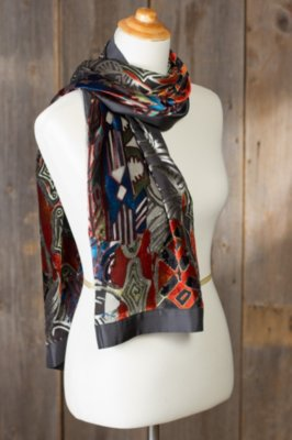 Intrigue Silk Velvet Scarf